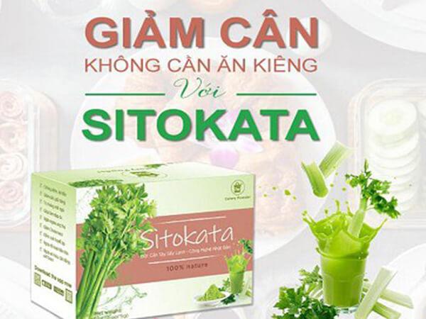 Bột cần tây sitokata có giảm cân không