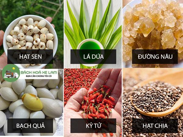 Nguyên liệu nấu chè dưỡng nhan 2