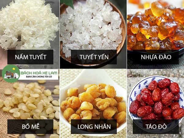 Nguyên liệu nấu chè dưỡng nhan 1