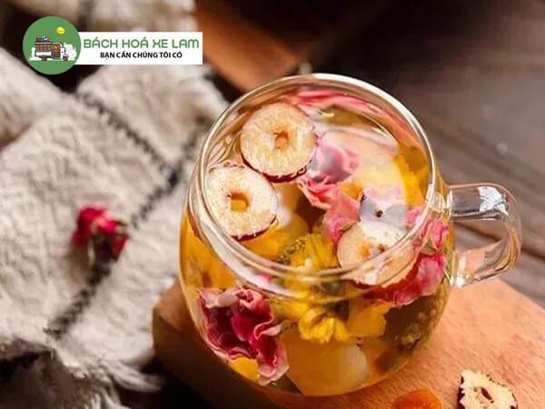 Cách pha trà hoa cúc táo đỏ với kỷ tử