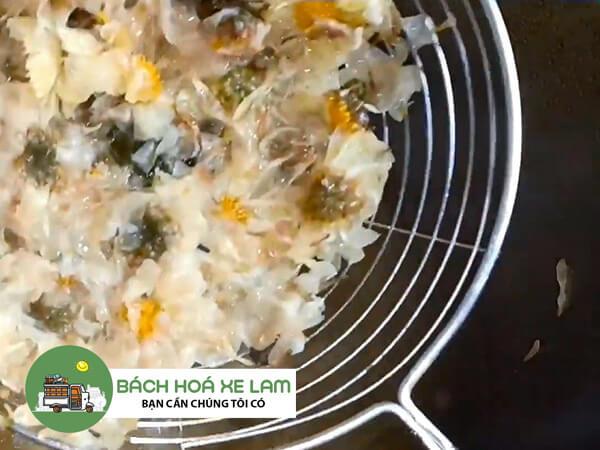 Cách nấu sâm bông cúc không bị chua