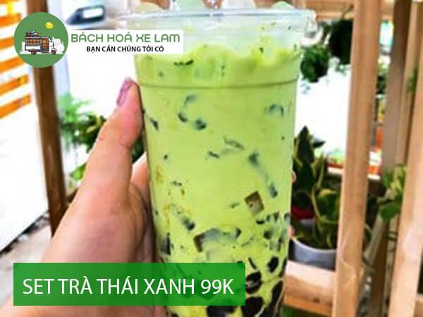 Giá set trà thái xanh Xe Lam