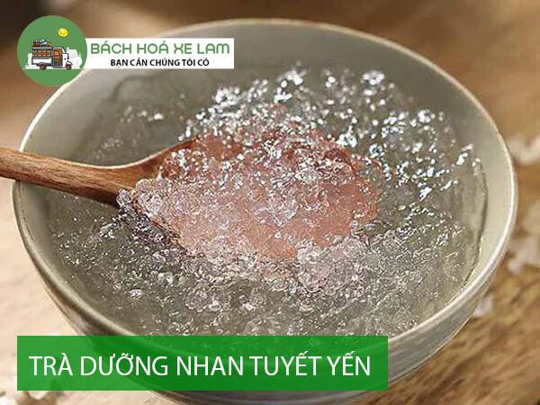 Cách pha trà dưỡng nhan tuyết yến