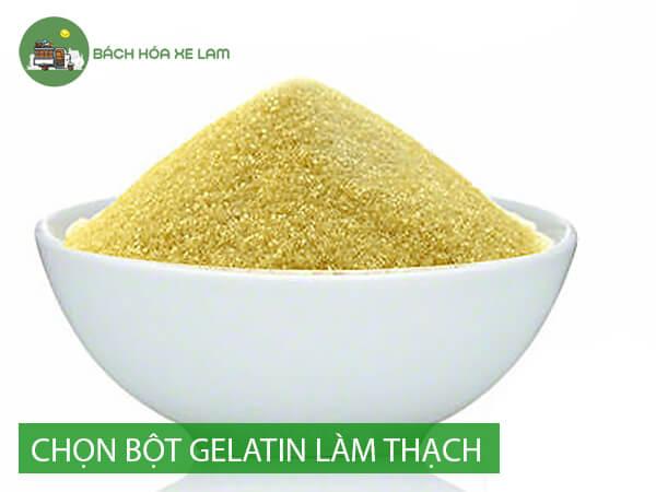 Kinh nghiệm chọn bột gelatin làm thạch