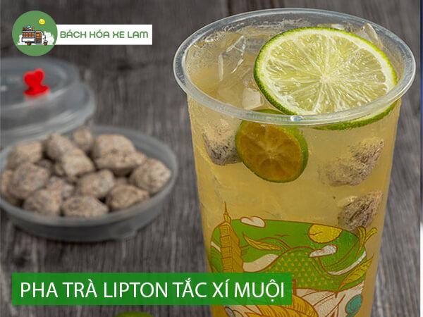 Cách pha trà lipton tắc xí muội