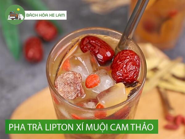 Cách pha trà lipton xí muội cam thảo