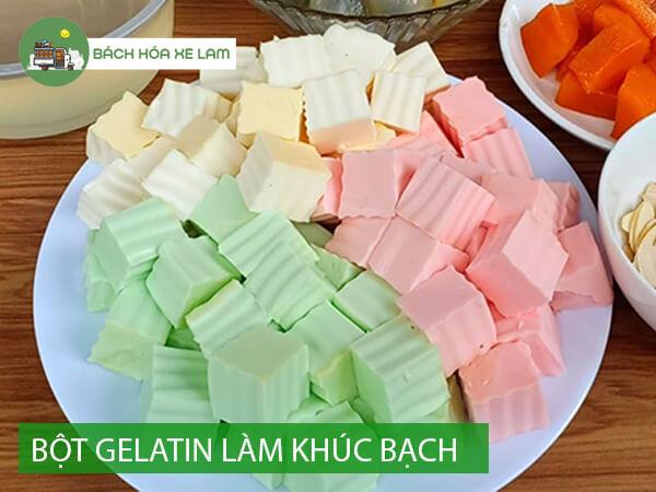 Cách sử dụng bột gelatin làm thạch khúc bạch