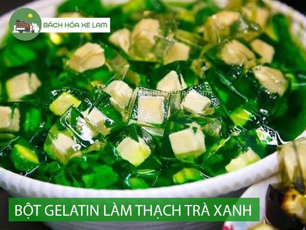 Dùng bột gelatin làm thạch trà xanh phô mai