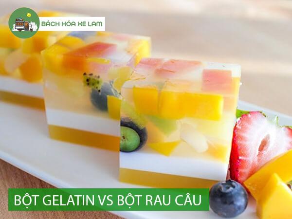 Bột gelatin làm thạch có phải là bột rau câu không
