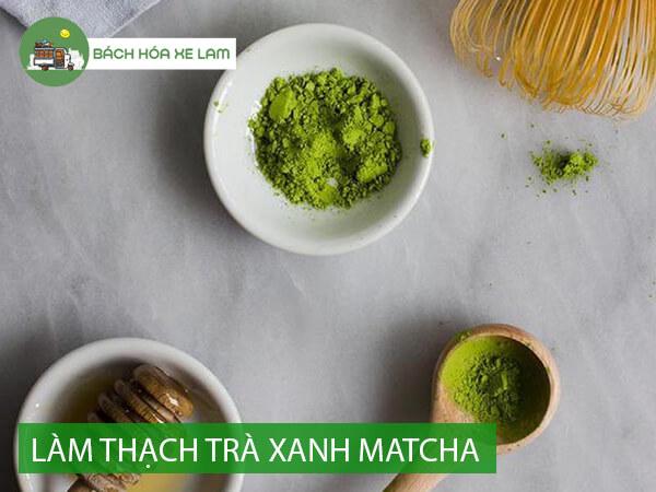 Cách làm thạch trà xanh từ bột rau câu
