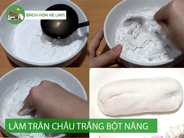 Cách làm trân châu trắng bằng bột năng