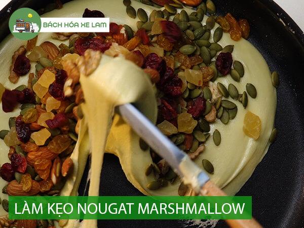 Cách làm kẹo nougat bằng marshmallow