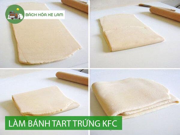 Cách làm vỏ bánh tart trứng KFC