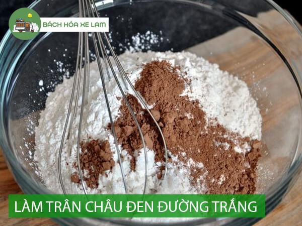 Nguyên liệu làm trân châu đường đen bằng đường trắng