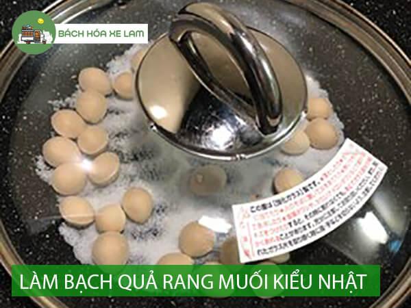 Cách chế biến bạch quả rang muối Nhật Bản