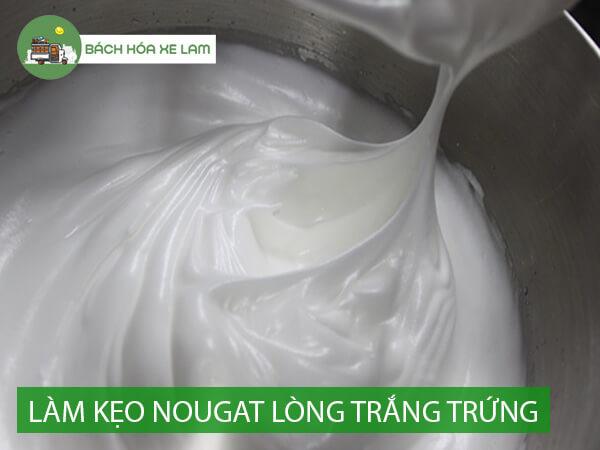 Công thức làm kẹo nougat bằng lòng trắng trứng