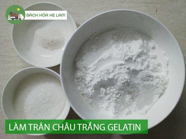 Nguyên liệu làm trân châu trắng từ gelatin