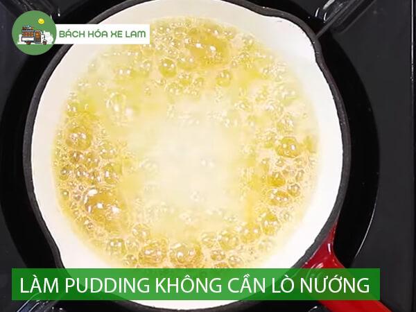 Nguyên liệu làm bánh pudding không cần lò nướng