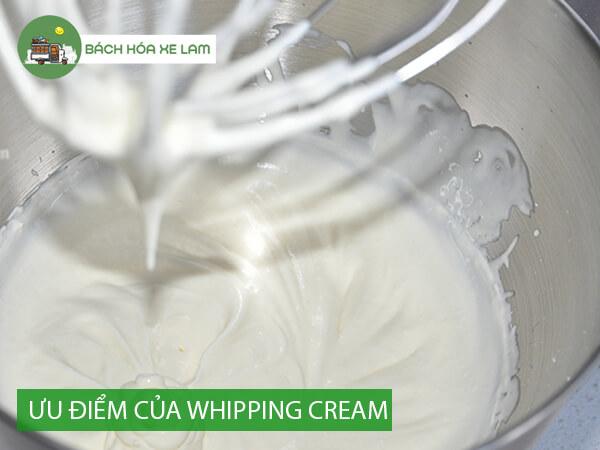Ưu điểm và nhược điểm của whipping cream
