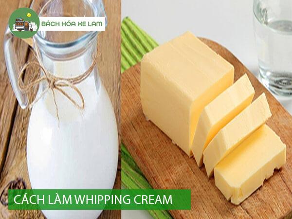 Cách làm whipping cream từ sữa