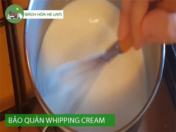 Bảo quản whipping cream