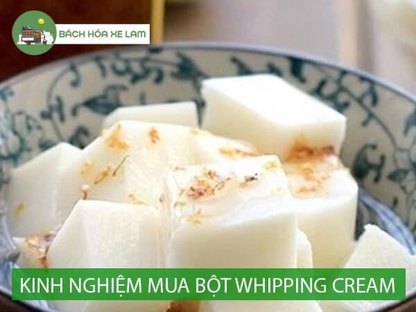 Kinh nghiệm tìm whipping cream mua ở đâu