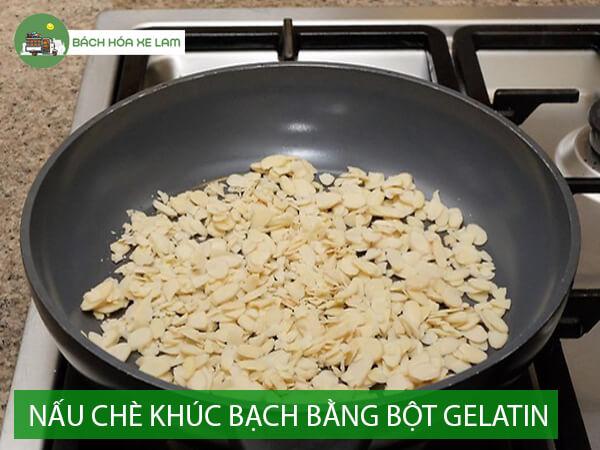 Cách nấu chè khúc bạch bằng bột gelatin