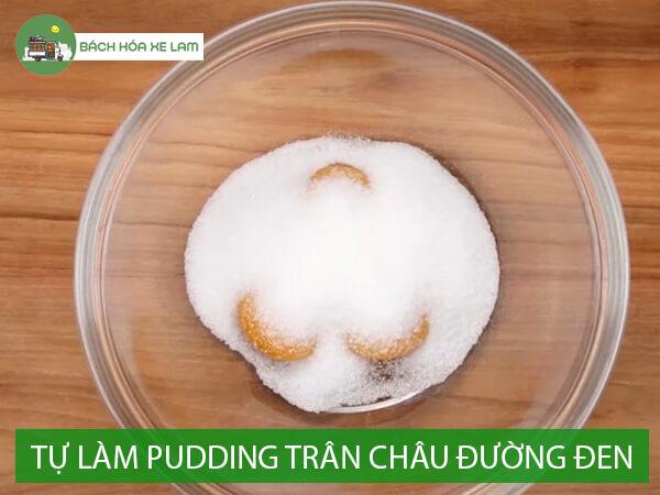 Nguyên liệu làm pudding trân châu đường đen
