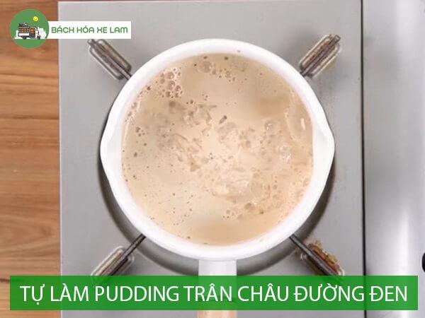 Công thức làm pudding trân châu đường đen