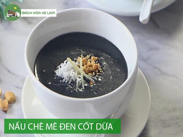 Cách nấu chè mè đen cốt dừa