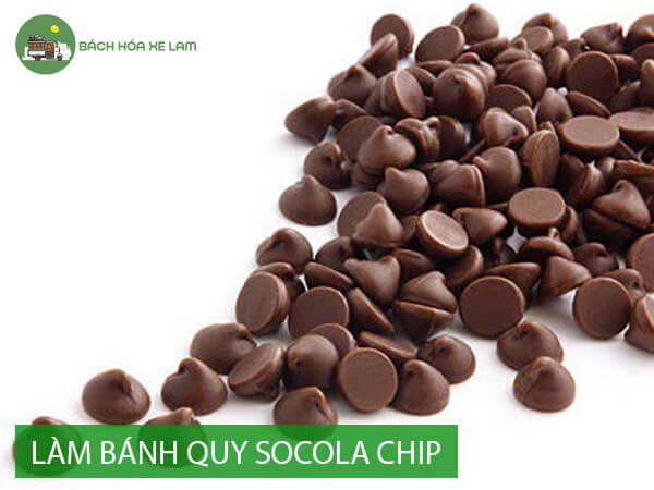 Nguyên liệu làm bánh quy socola chip