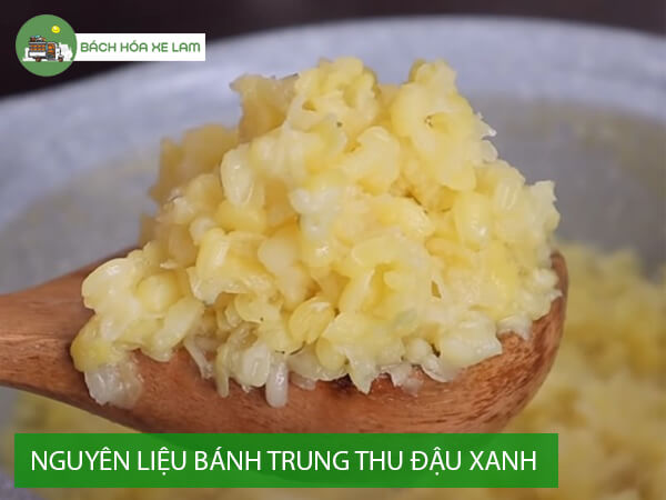 Nguyên liệu làm bánh trung thu nhân đậu xanh trứng muối