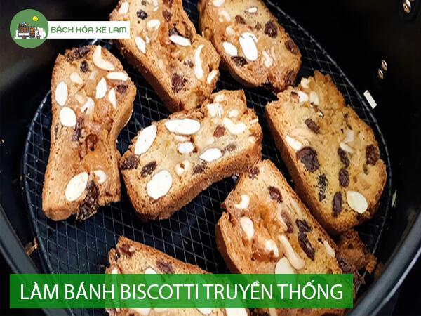 Cách làm bánh biscotti bằng nồi chiên không dầu
