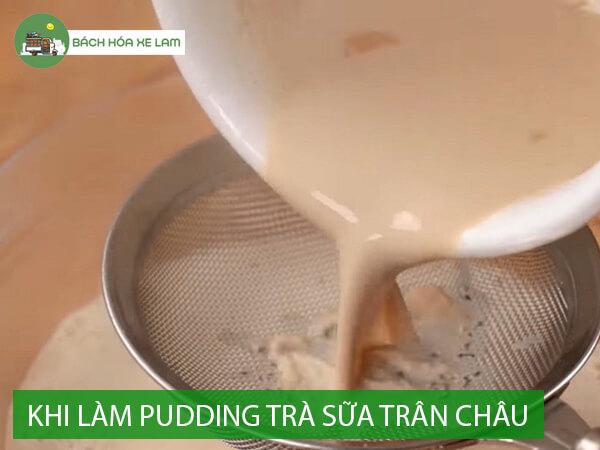 Cách làm pudding trứng trà sữa