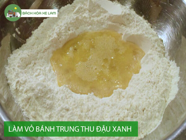 Công thức làm bánh trung thu nhân đậu xanh trứng muối