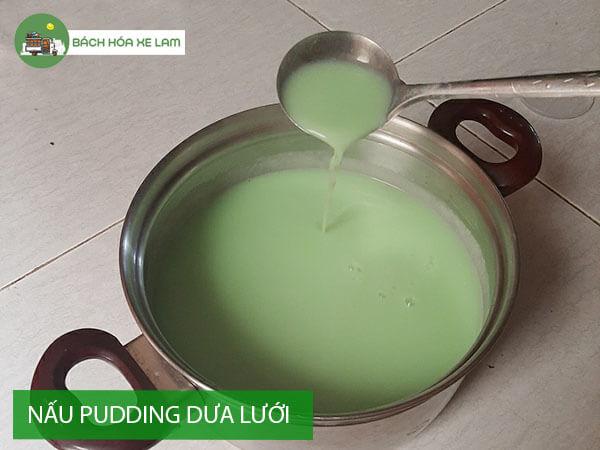 Công thức làm pudding dưa lưới