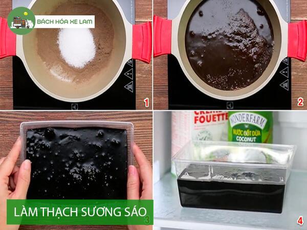 Cách làm trà sữa ô long thạch sương sáo