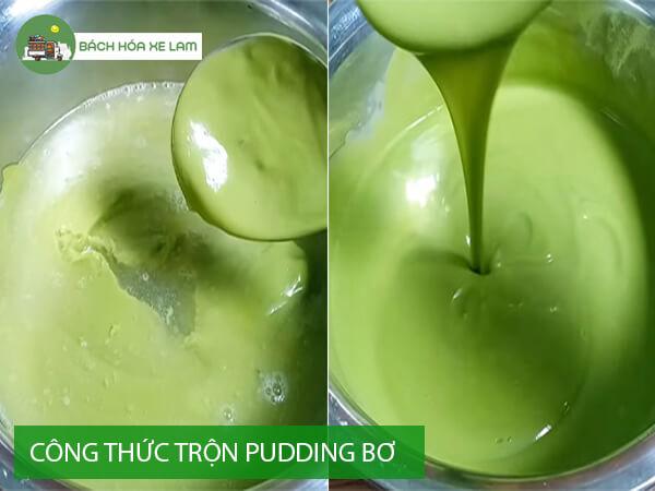 Hướng dẫn làm pudding bơ bằng bột gelatin
