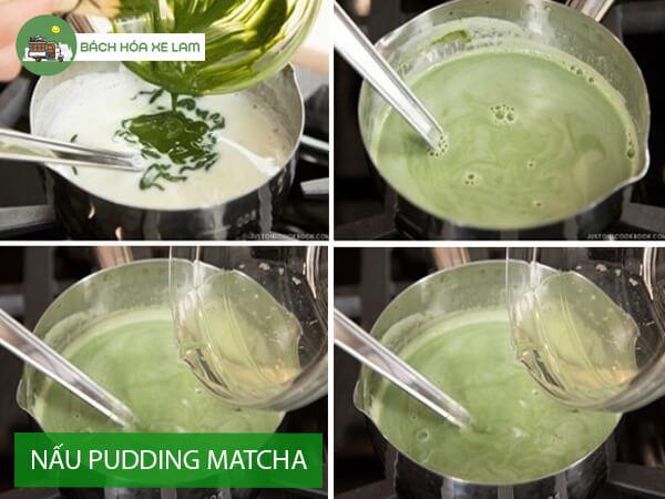 Hướng dẫn nấu pudding trà xanh