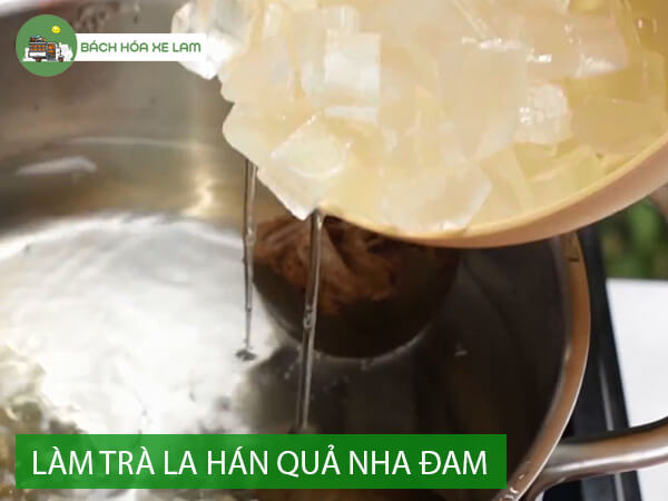 Cách pha trà la hán quả với nha đam