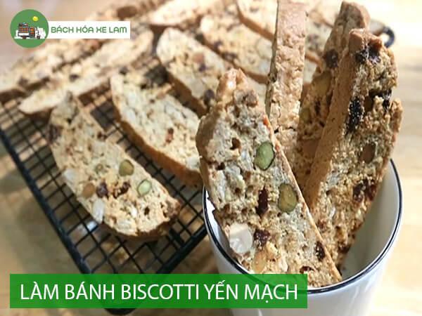 Cách làm bánh biscotti yến mạch