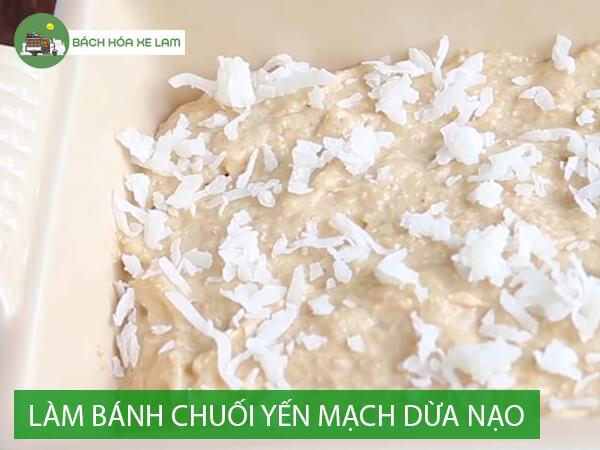 Nguyên liệu làm bánh chuối yến mạch nhân dừa
