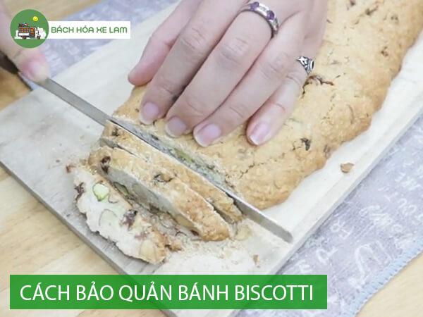 Bảo quản bánh biscotti sau khi làm