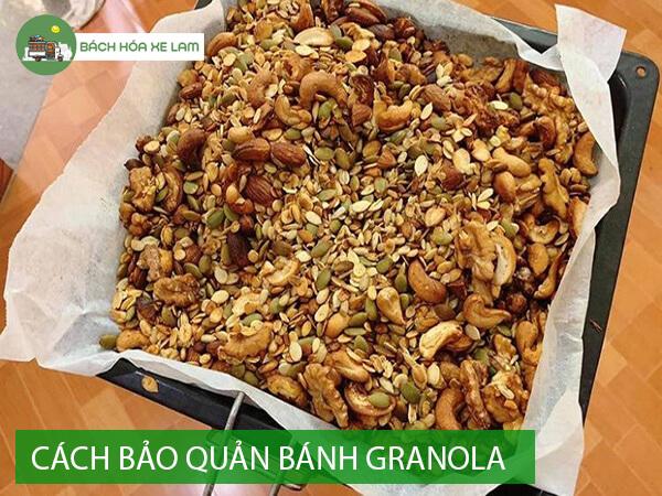 Bảo quản granola sau khi làm