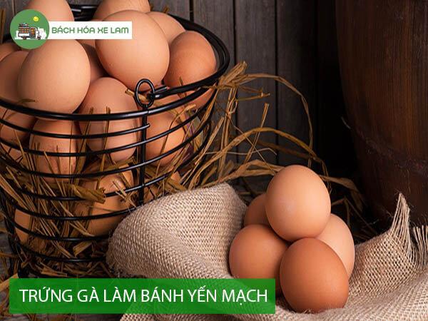 Nguyên liệu làm bánh yến mạch trứng gà
