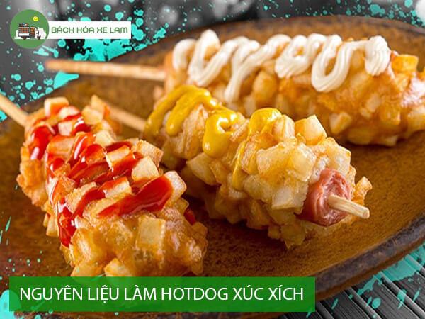 Nguyên liệu làm bánh hotdog xúc xích hàn quốc