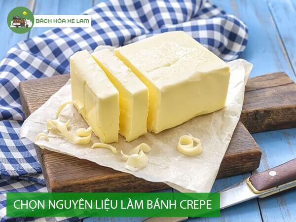 Cách chọn bột và nguyên liệu làm bánh crepe