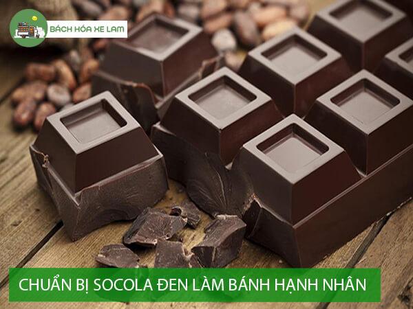Nguyên liệu làm bánh hạnh nhân socola